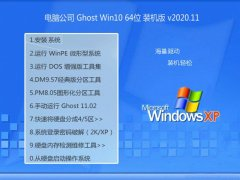 电脑公司Windows10 热门装机版64位 2020.11